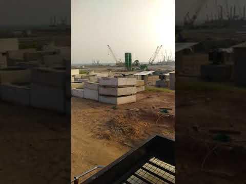 Vizhinjam International Seaport under construction at Mulloor