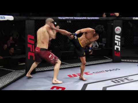 Tom Breese vs. Bruce Lee (EA sports UFC 3) CPU vs. CPU