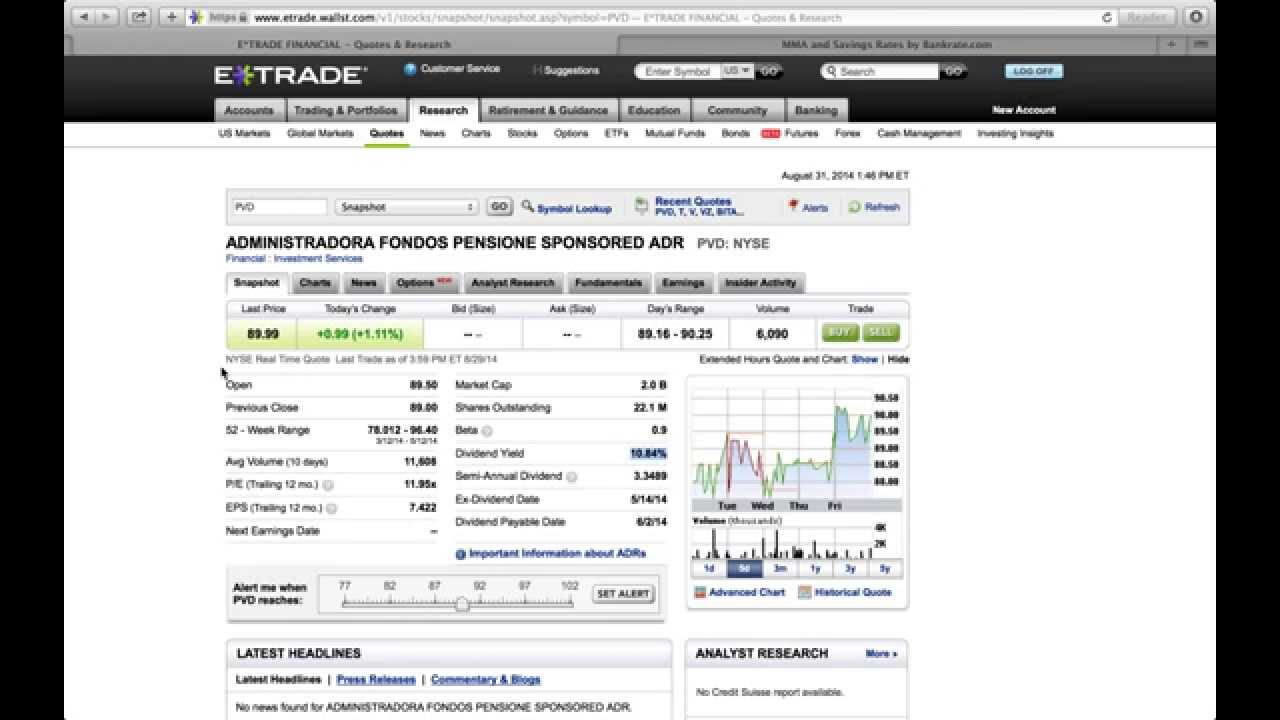 How to buy stock options on etrade