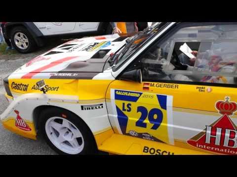 Michael Gerber Audi S1 B group shakedown start Rallylegend San Marino 2015