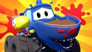 Monster Truck per bambini - Giocando a FORTNITE - La Battaglia Reale di Paintball - Monster Town 🚗