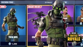 NEW TECH OPS SKIN - ARMATURE PICKAXE - COAXIAL COPTER GLIDER NEW FORTNITE ITEM SHOP UPDATE