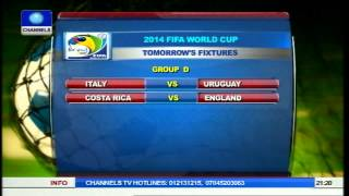 World cup group games fixtures