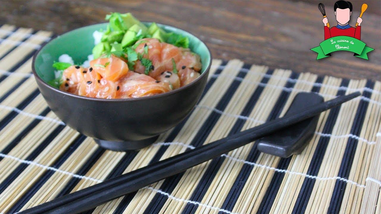 Recette Chirashi Avocat Saumon Marine Poke Bowl Youtube