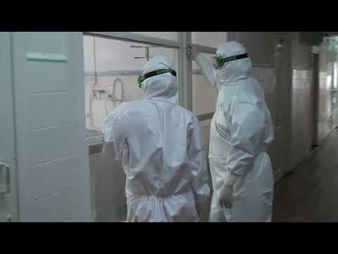 Кадры из Республиканской клинической инфекционной больницы