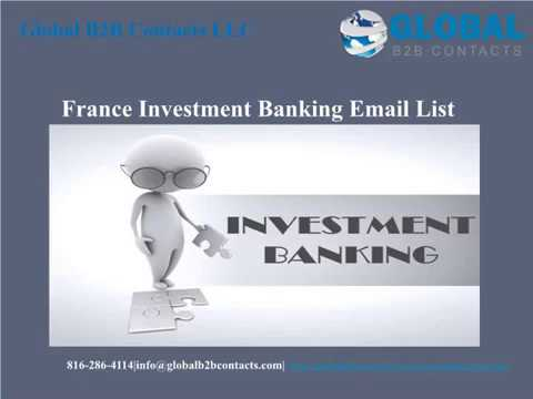 France Investment Banking Email list