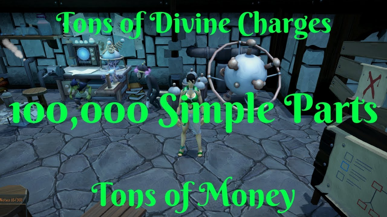 Download Loot from 100,000 Simple Parts- MAXIMUM AMOUNT OF PARTS!!!- making divine charges