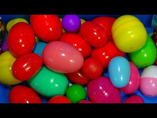30 Surprise Eggs!!! Disney CARS MARVEL Spider Man SpongeBob HELLO KITTY PARTY ANIMALS  LittlestPetSh