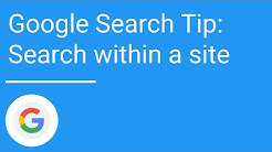 Google Search tip: Search within a site