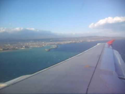"""Atterraggio a Catania Fontanarossa (CTA) - Volo WindJet IV 509 da Parma """"G. Verdi"""" (PMF)"""