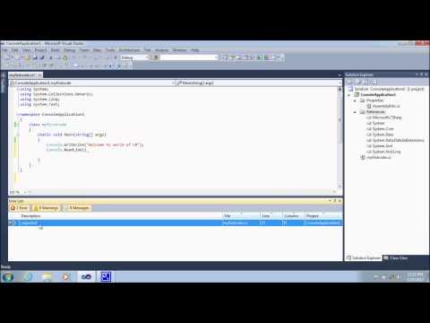 Use of error List Window