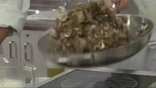 Fresh Canadian Mushroom Cannelloni In A Goat Cheese Tarragon Cream Sauce