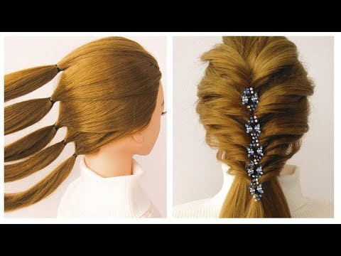 Coiffure soirée / mariage ❤️ facile à faire ❤️ Easy and beautiful hairstyle for party / prom