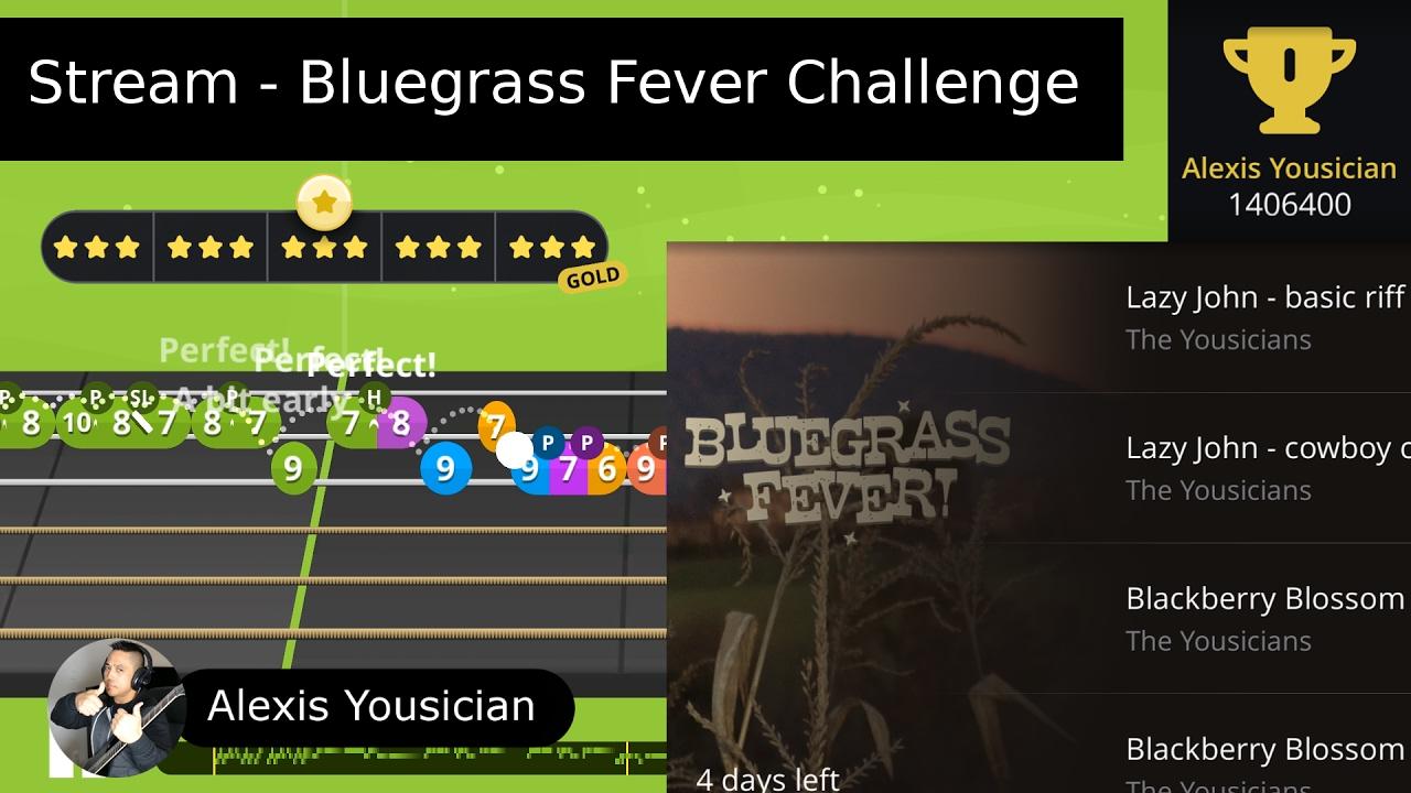 alexis yousician bluegrass fever challenge live stream youtube. Black Bedroom Furniture Sets. Home Design Ideas