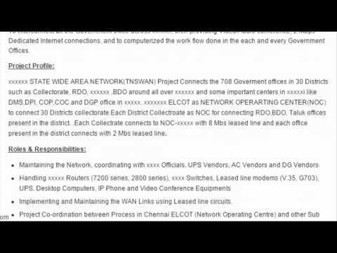Network Administrator Sample Resume