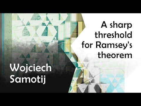 "Wojciech Samotij ""A sharp threshold for Ramsey's theorem"" | Big Seminar"