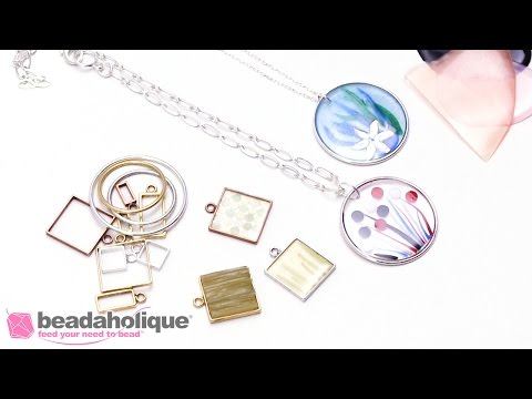 How to Use Excess Colorized Resin Pieces to Create Mosaic Pendants by Becky Nunn