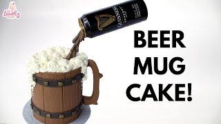 Gravity Defying Beer Mug Cake Tutorial! St. Patricks Day Guinness Cake