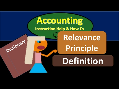 relevance accounting definition