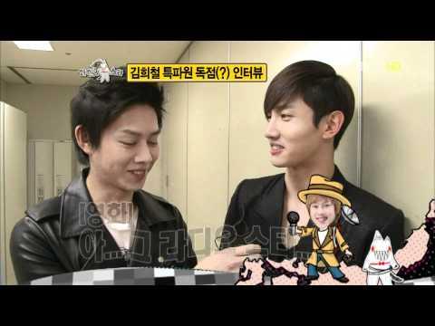 110203 동방신기_TVXQ! 최강창민_Changmin @MBC RadioStar 'SMTown BackStage Interview'