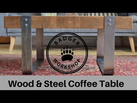 Wood & Steel Coffee Table