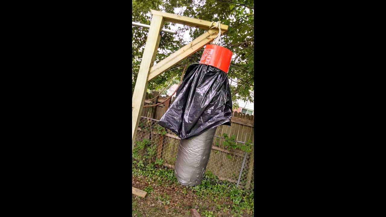 How To Make A Homemade Free Standing Punching Bag