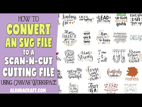 How To Convert An SVG To A ScanNCut Cutting File In Canvas Workspace