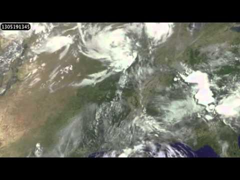 Satellite Observations of May 15-21 - 2013 tornado outbreaks in Central US (TX,OK,AR,LA,AL)