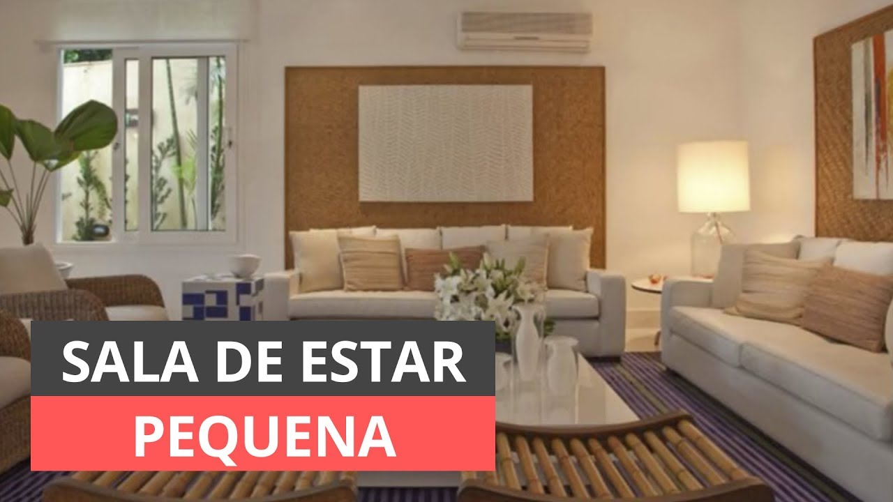 Sala de estar pequena inspira es de como decorar youtube for Salas en l pequenas
