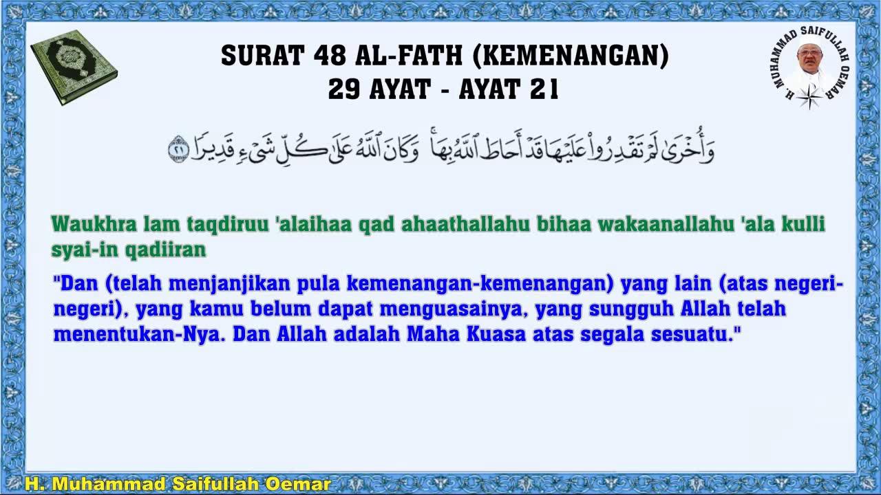 Al Quran Surat 48 Al Fath Kemenangan 29 Ayat Arab Latin Dengan Terjemahan