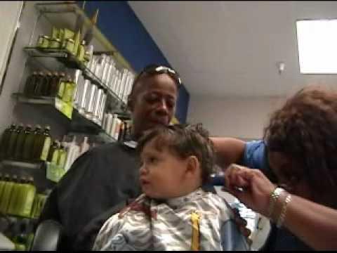 Brayden First Haircut At Walmart Youtube