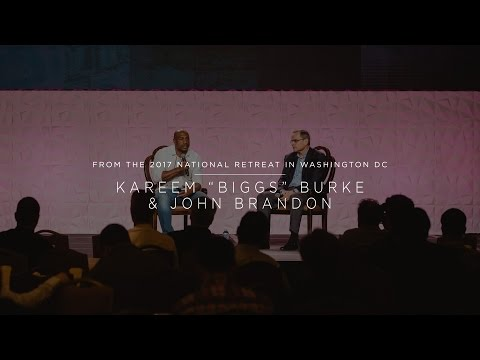 "Kareem ""Biggs"" Burke & John Brandon - New Canaan Society 2017 National Retreat"