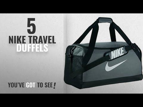 Top 10 Nike Travel Duffels [2018]: Nike Brasilia (Small) Training Duffel Bag Flint Grey/Black/White