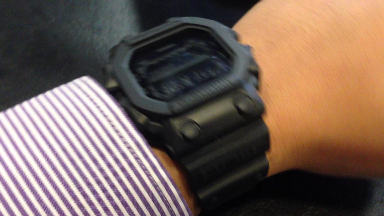 0c6242ec9ab5 Casio G-Shock Black Out Basic Series GX-56BB-1DR on my wrist - YouTube