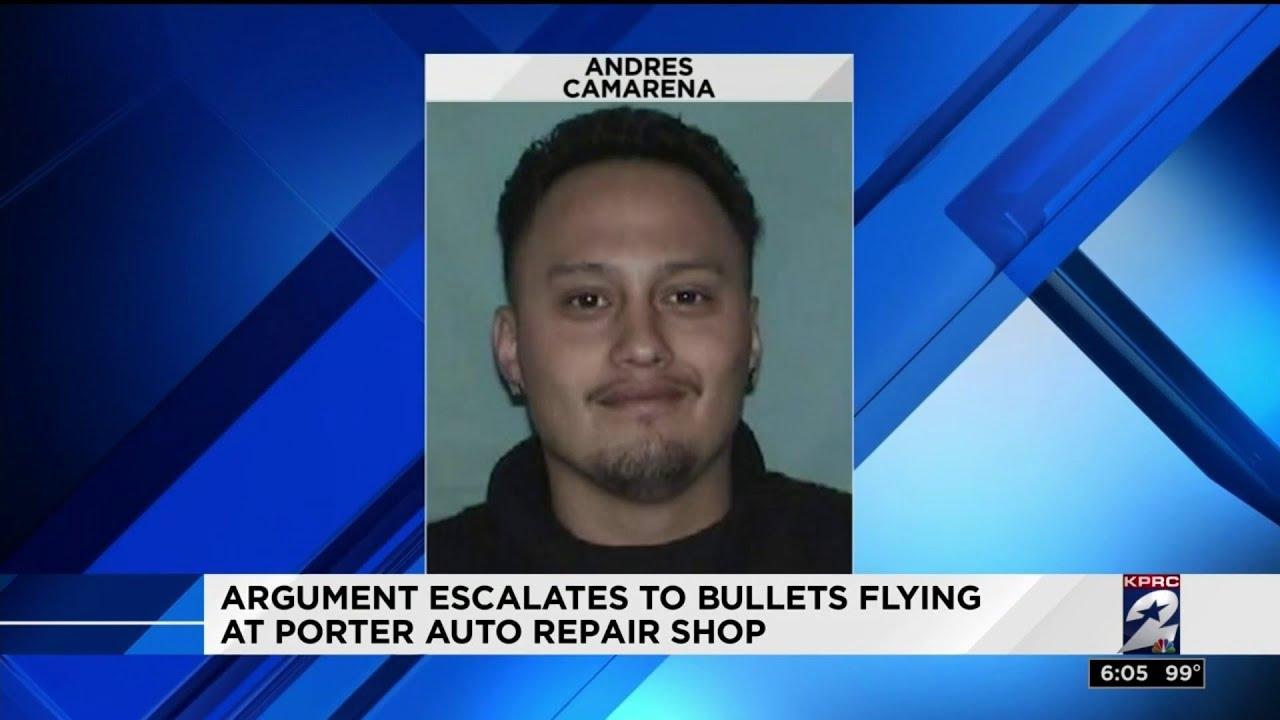 White Man shoot out in Auto Repair Shop