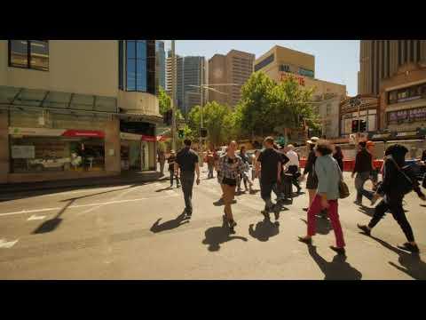 Sydney Video Walk 4K - Walking Around George St CBD Spring 2017