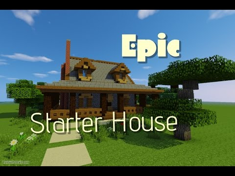 Minecraft lets build epic starter house youtube for Epic house music