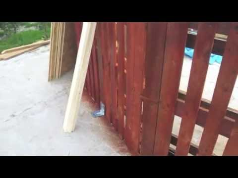 Diy pallets swimming pool 2 3 youtube for Make a swimming pool out of pallets