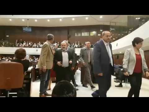 Joint List MKs walk out on Netanyahu