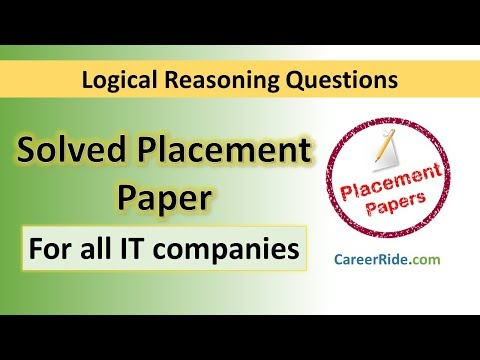 Solved Logical Reasoning Placement Paper - For all IT compan