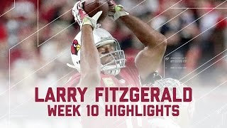 Larry Fitzgerald's Big Game with 133 Yards! | 49ers vs. Cardinals | NFL Week 10 Player Highlights