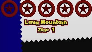 Sonic Lost World - Lava Mountain Zone 1 - All Red Star Rings