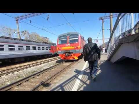 ЭД9М-1040, маршрут: Узуново - Троекурово / Traim ED9M-1040, Route: Uzunovo - Troekurovo