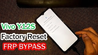 Vivo Y12S Factory Reset & FRP Google Account Remove Without PC 2021