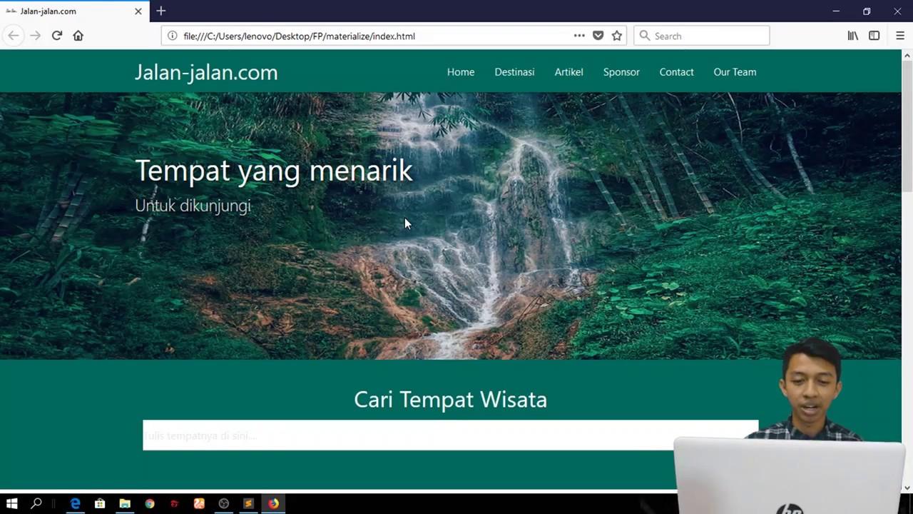Design Web Pariwisata - YouTube