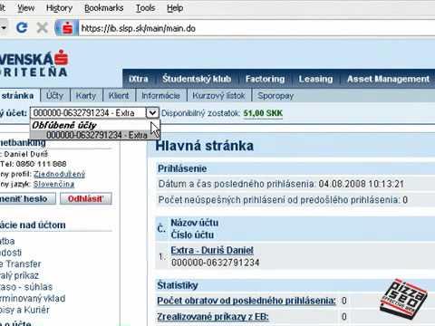 Slovenska SpoЕ™itelna Internetbanking