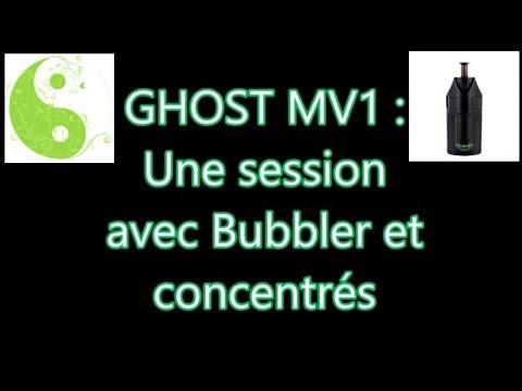 GHOST MV1: Première session avec un concentré de CBD avec/sans bubbler. Ghost vapes CBD concentrate.