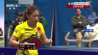 [2014] Grand Finals 2013 (ws-sf) LIU Shiwen Vs PAVLOVICH Victoria [HD] [Full Match/Chinese]