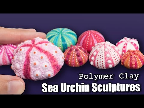 Polymer Clay Sea Urchins Sculptures // How to Sculpt Tutorial