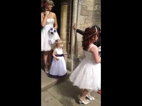 Bridemaid @ Roy's wedding, Mansfield, St Peter's & St. Paul's church, Nottinghamshire, UK